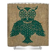 Colored Owl 4 Of 4  Shower Curtain