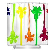 Colored Palms Shower Curtain