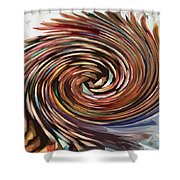 Colored Pencil Rose Shower Curtain
