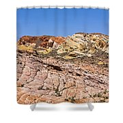 Colored  Stone Shower Curtain