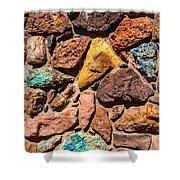 Colored Stone Rock Church Wall - Cedar City - Utah Shower Curtain