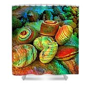 Colored Stones By Rafi Talby   Shower Curtain