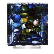 Colored Stones Of Light Shower Curtain