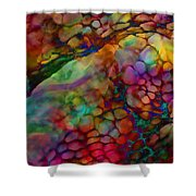 Colored Tafoni Shower Curtain