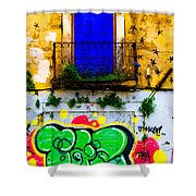 Colored Wall Shower Curtain