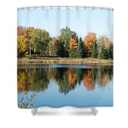 Colored Water Shower Curtain