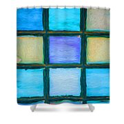 Colored Window Panes Shower Curtain
