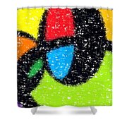 Colorful Abstract 5 Shower Curtain