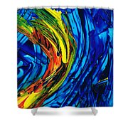 Colorful Abstract Art - Energy Flow 2 - By Sharon Cummings Shower Curtain
