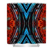 Colorful Abstract Art - Expanding Energy - By Sharon Cummings Shower Curtain