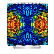 Colorful Abstract Art - Parallels - By Sharon Cummings  Shower Curtain