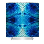 Colorful Abstract Art Pattern - Color Wheels - By Sharon Cummings Shower Curtain