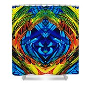 Colorful Abstract Art - Purrfection - By Sharon Cummings Shower Curtain