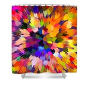 Colorful Abstract Background Shower Curtain