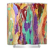 Colorful Abstract Falls Shower Curtain by Julia Apostolova
