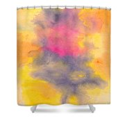 Colorful Abstract Tree At Sunset Shower Curtain