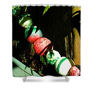 Colorful Accents In Florida Gardens Shower Curtain