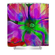 Colorful African Violet Shower Curtain