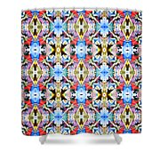 Colorful Angles Pattern Shower Curtain