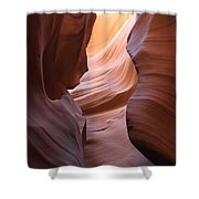 Colorful Antelope Canyon Waves Shower Curtain
