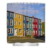 Colorful Apartment Buildings In Saint John's-nl Shower Curtain