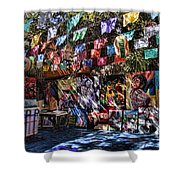 Colorful Art Store In Mexico Shower Curtain
