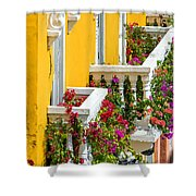 Colorful Balconies Shower Curtain