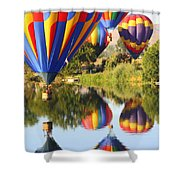 Colorful Balloons Fill The Frame Shower Curtain