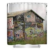 Colorful Barn Shower Curtain