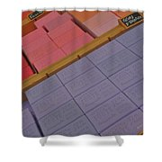 Colorful Bars Soap On Market In Provence Shower Curtain
