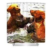 Colorful Bears Shower Curtain