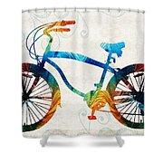 Colorful Bike Art - Free Spirit - By Sharon Cummings Shower Curtain