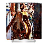 Colorful Boat Pully Shower Curtain