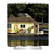 Colorful Boathouse Shower Curtain