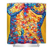 Colorful Bodyscape 1 Shower Curtain