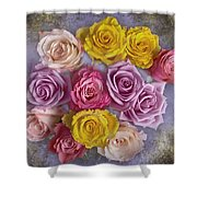 Colorful Bouquet Of Roses Shower Curtain