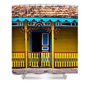 Colorful Building Shower Curtain