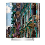 Colorful Buildings In Havana Shower Curtain