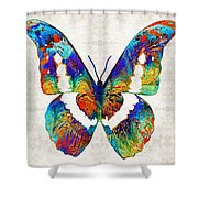 Colorful Butterfly Art By Sharon Cummings Shower Curtain
