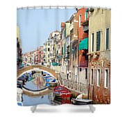 Colorful Canal Shower Curtain