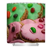 Colorful Candy Faces Shower Curtain