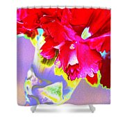Colorful Carnation Shower Curtain