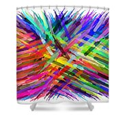 Colorful Cattails Shower Curtain