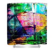 Colorful Cd Cases Collage Shower Curtain