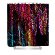Colorful Christmas Streaks - Abstract Christmas Lights Series Shower Curtain