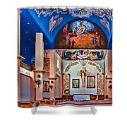 Colorful Church Shower Curtain
