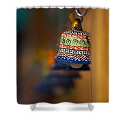 Colorful Clay Bells Shower Curtain