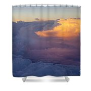 Colorful Cloud Shower Curtain by Brian Jannsen