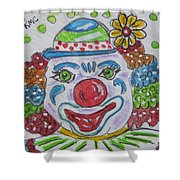 Colorful Clown Shower Curtain