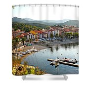 Colorful Collioure Shower Curtain
